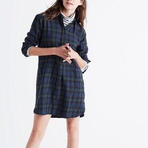Madewell Flannel Side-button Shirtdress
